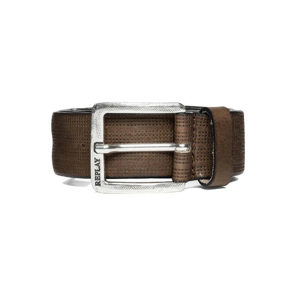 リプレイ メンズ ベルト【Vintage Leather Belt】medium brown