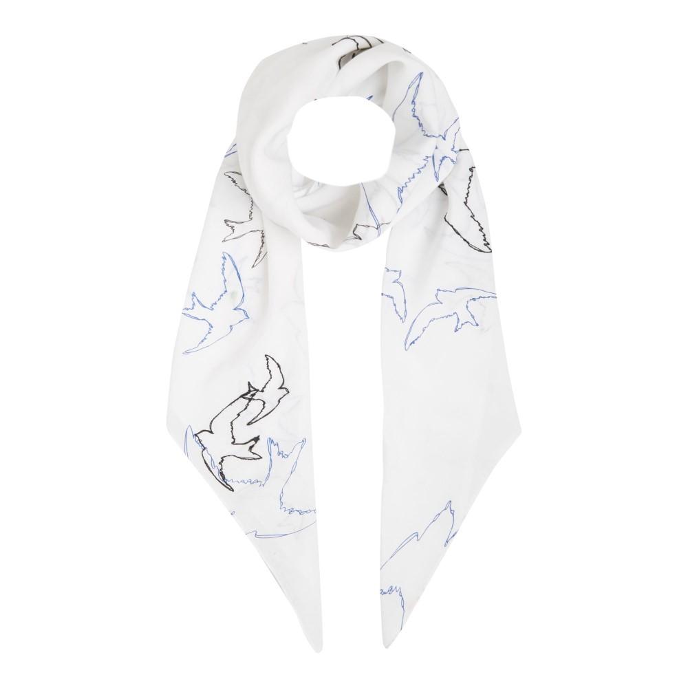 ヒューゴ ボス レディース マフラー・スカーフ・ストール【Nospea Print Scarf】white