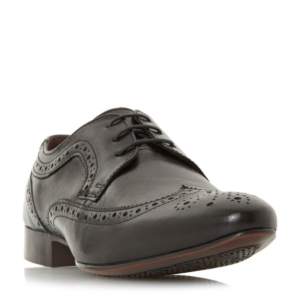 リネアペレ メンズ シューズ・靴 革靴・ビジネスシューズ【Pythons Sleek Lace Up Brogues】black