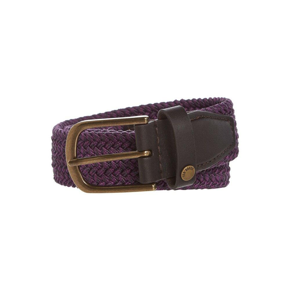 テッドベーカー メンズ ベルト【Elastic Marl Belt】purple