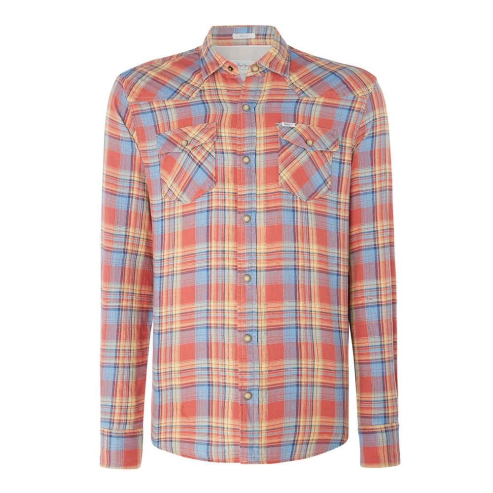 ペペジーンズ メンズ トップス シャツ【Gilles Pepe Long Sleeve Shirt】orange