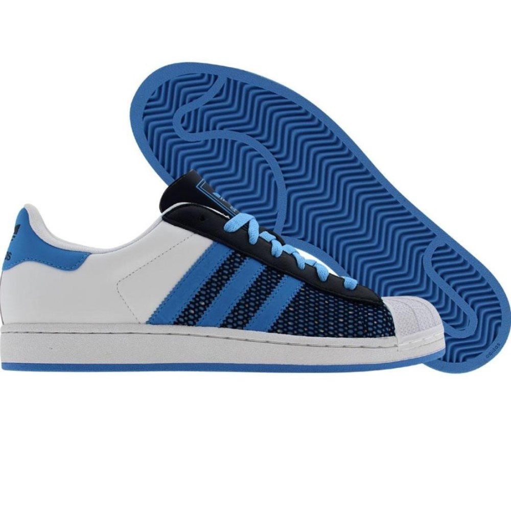 アディダス メンズ シューズ?靴 スニーカー【Adidas Superstar】runninwhite / college blue / college navy
