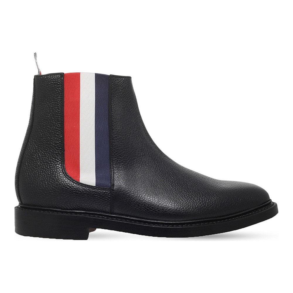 トム ブラウン thom browne メンズ シューズ?靴 ブーツ【striped leather chelsea boot】Black