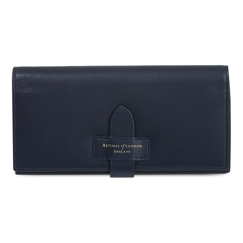 アスピナル オブ ロンドン aspinal of london レディース アクセサリー 財布【london ladies leather purse】Navy