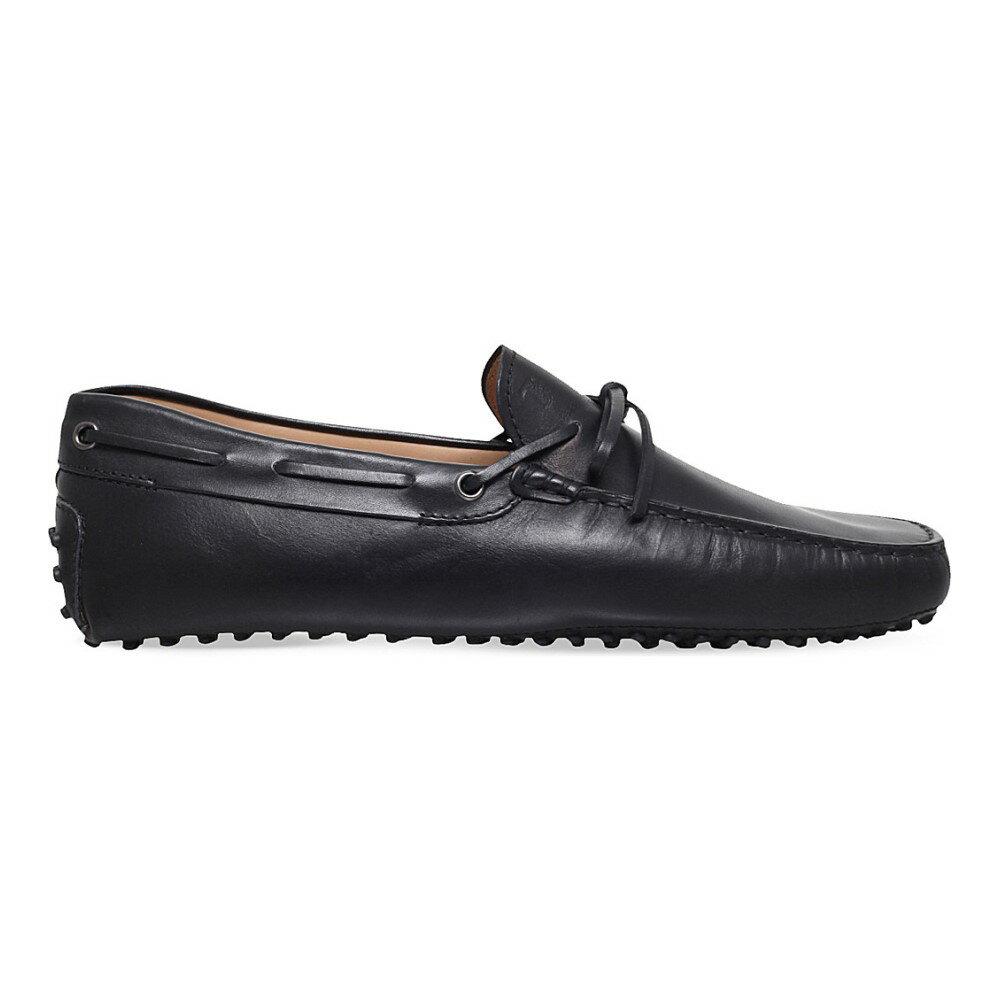トッズ tods メンズ シューズ・靴 ドライビングシューズ【city gommino leather driving shoes】Black