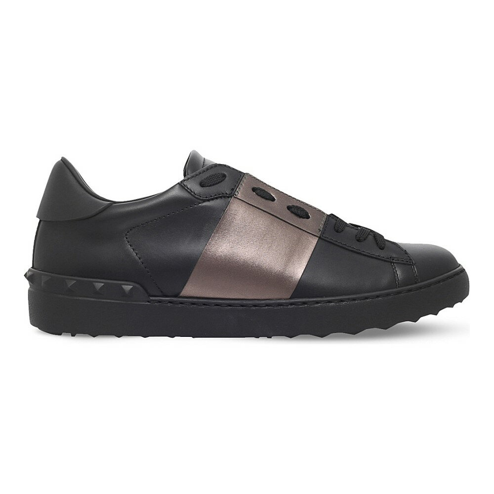 ヴァレンティノ valentino メンズ シューズ・靴 スニーカー【rockstud studded leather tennis shoes】Black/comb