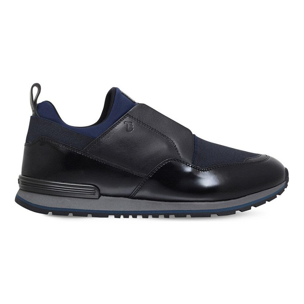 トッズ tods メンズ シューズ・靴 スニーカー【neoprene and leather trainers】Black/comb