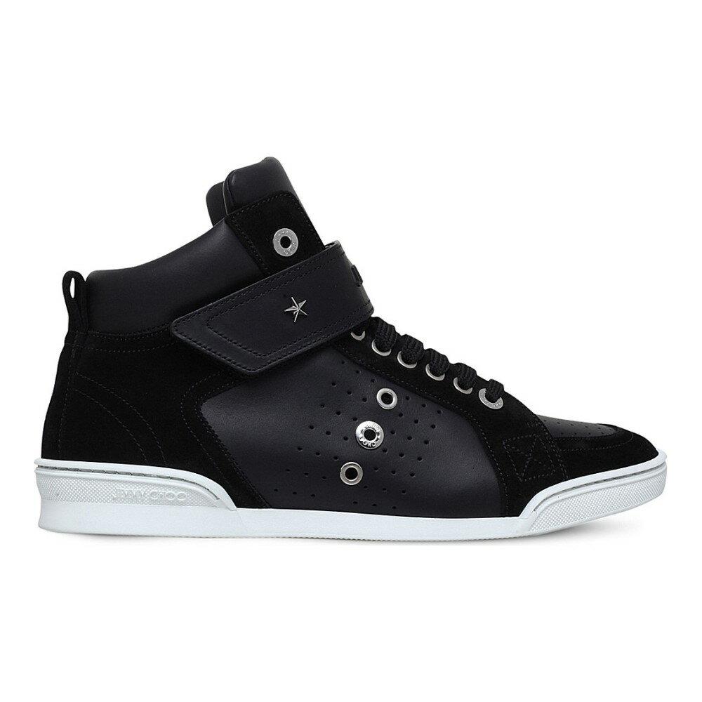 ジミー チュウ jimmy choo メンズ シューズ・靴 スニーカー【lewis leather high-top trainers】Black