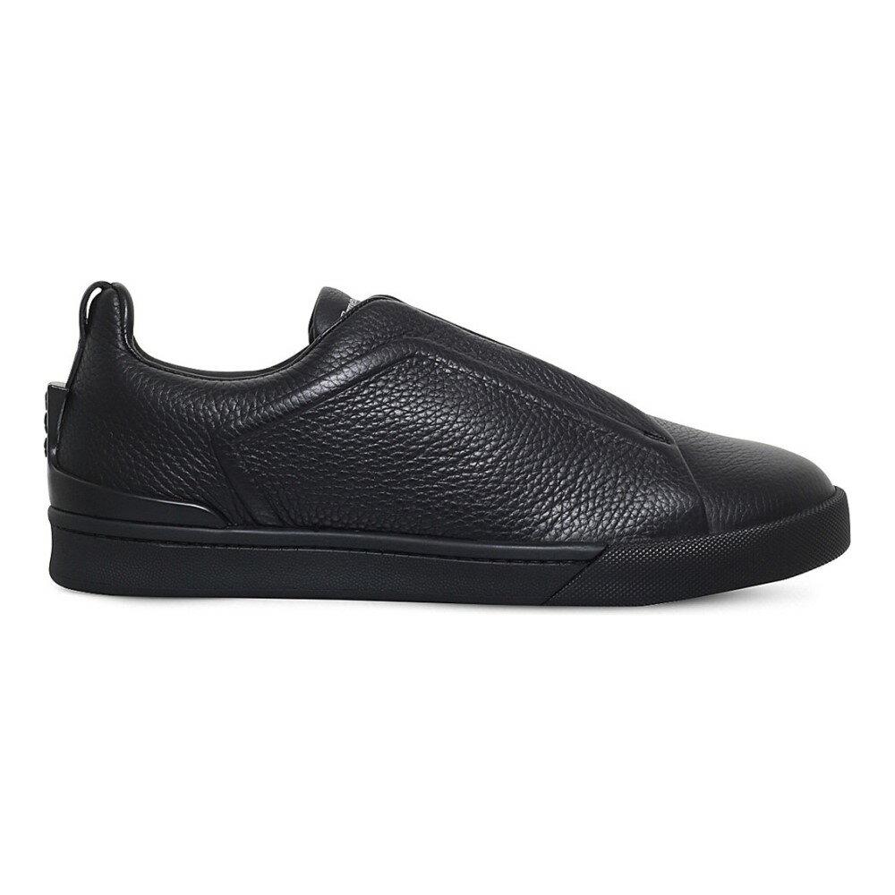エルメネジルド ゼニア ermenegildo zegna メンズ シューズ・靴 スニーカー【triple-stitch leather trainers】Black