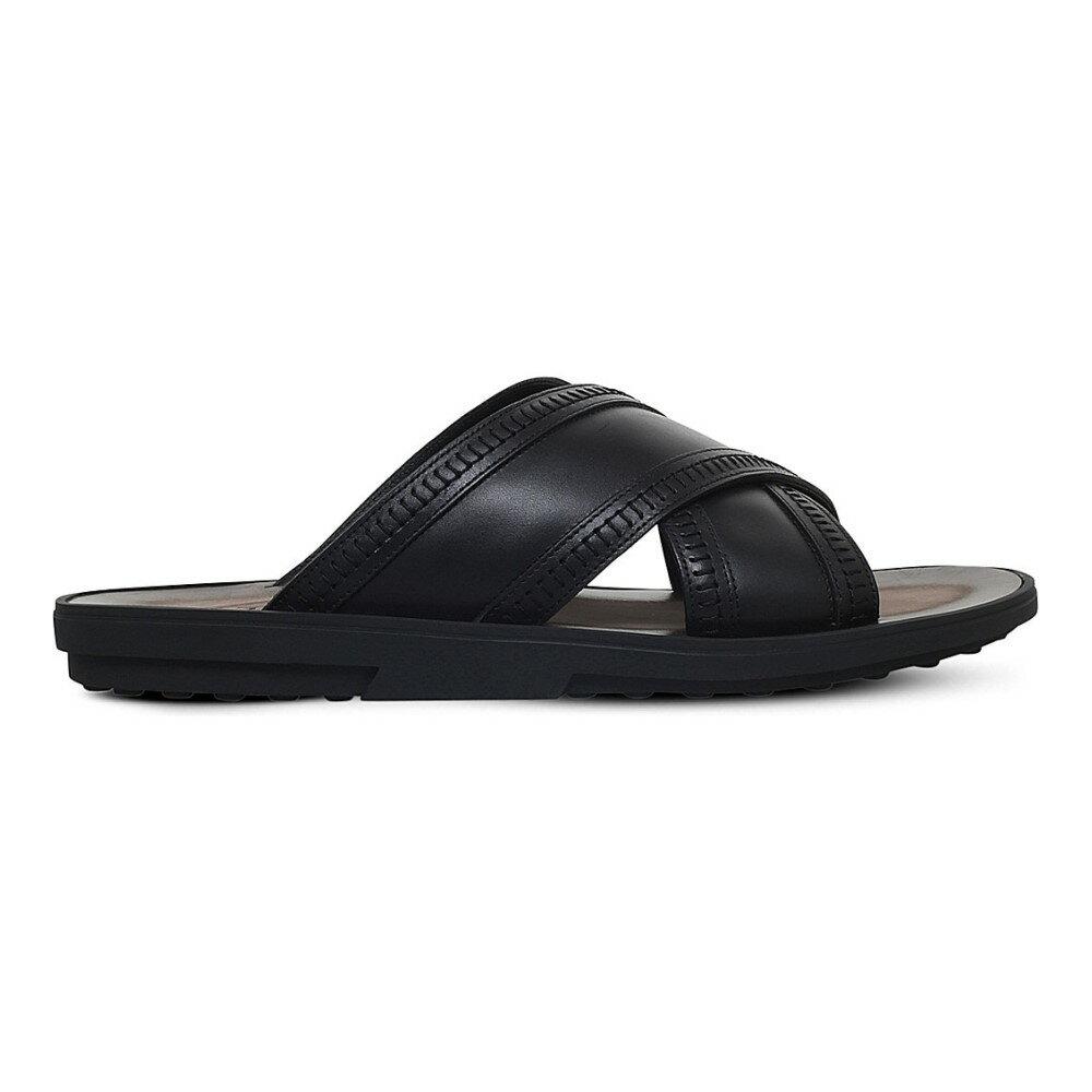 トッズ tods メンズ シューズ?靴 サンダル【cross leather sandals】Black