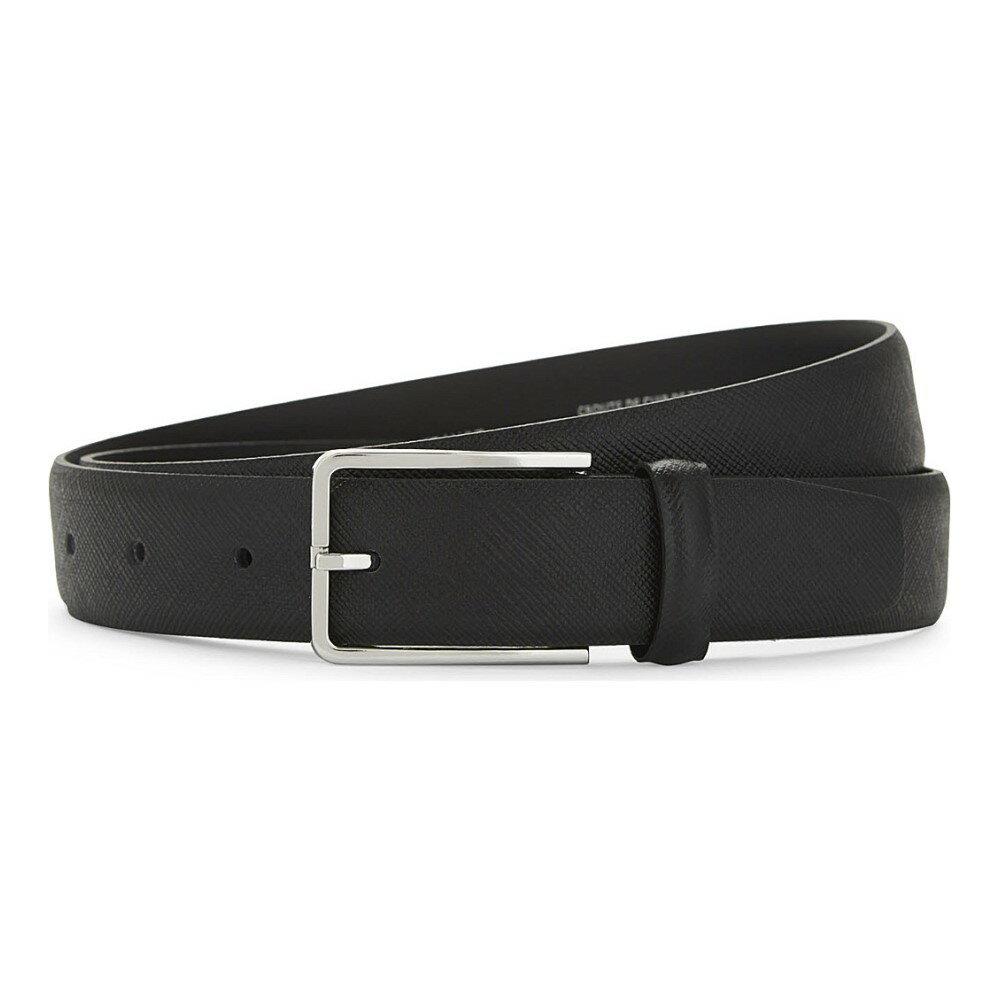サンドロ sandro メンズ アクセサリー ベルト【textured leather belt】Black