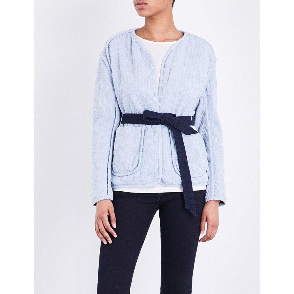 ラグ&ボーン rag & bone レディース アウター ジャケット�montana tie-front quilted cotton jacket】Pale blue