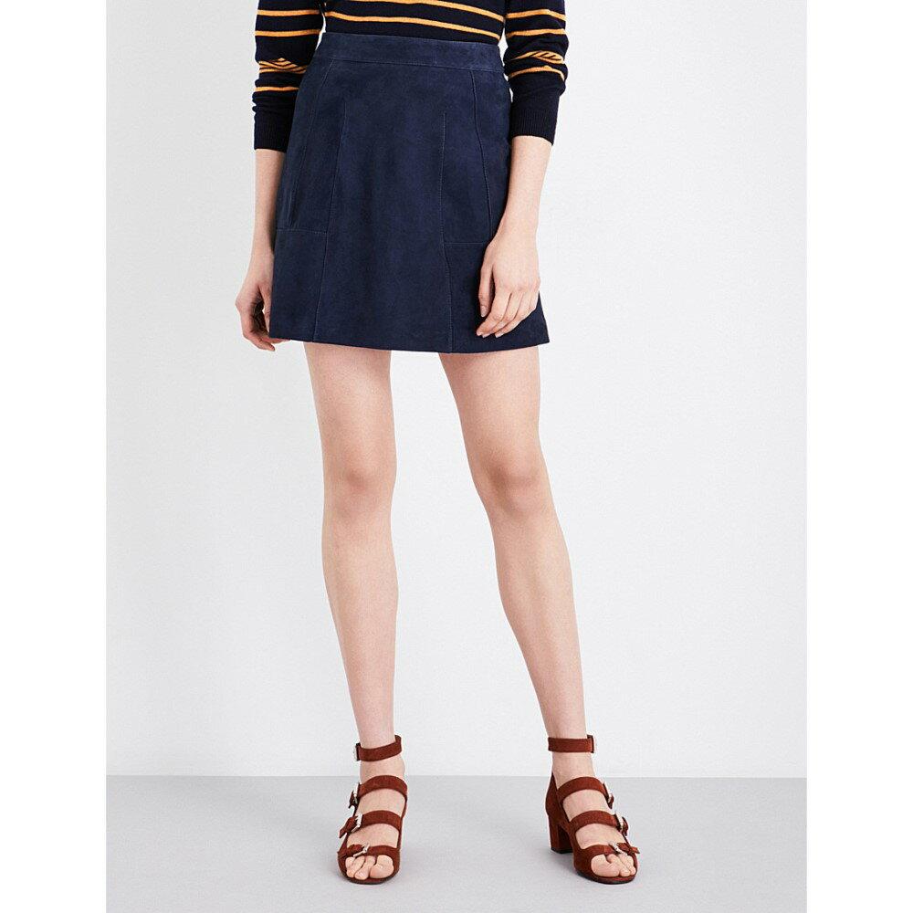 ホイッスルズ whistles レディース スカート ミニスカート【leonie suede mini skirt】Navy