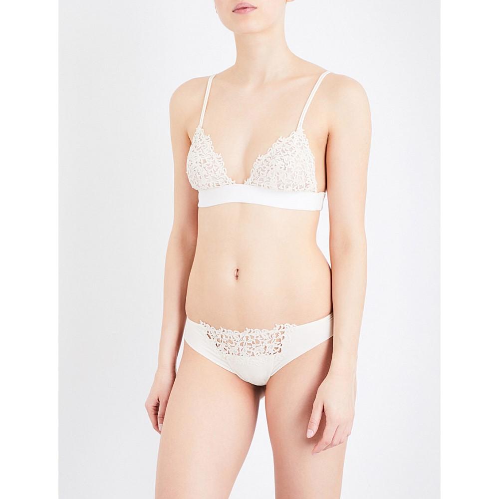 ラ ペルラ la perla レディース インナー ブラジャー【petit macrame stretch silk-georgette triangle bra】Ivory
