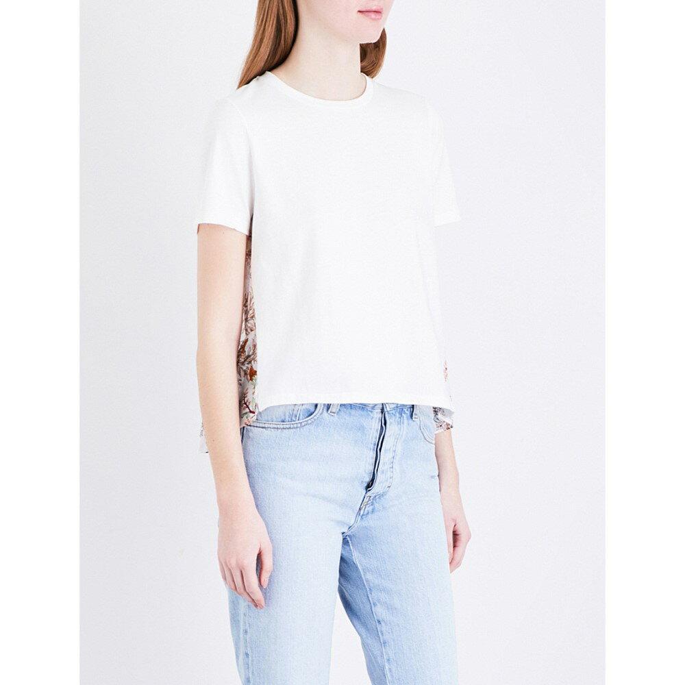 マージュ maje レディース トップス Tシャツ【tiona cotton-jersey t-shirt】Bicolore