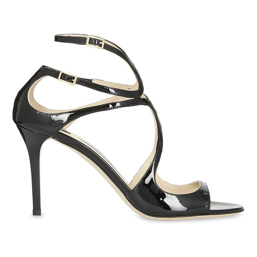 ジミー チュウ jimmy choo レディース シューズ?靴 サンダル【ivette 85 patent-leather heeled sandals】Black