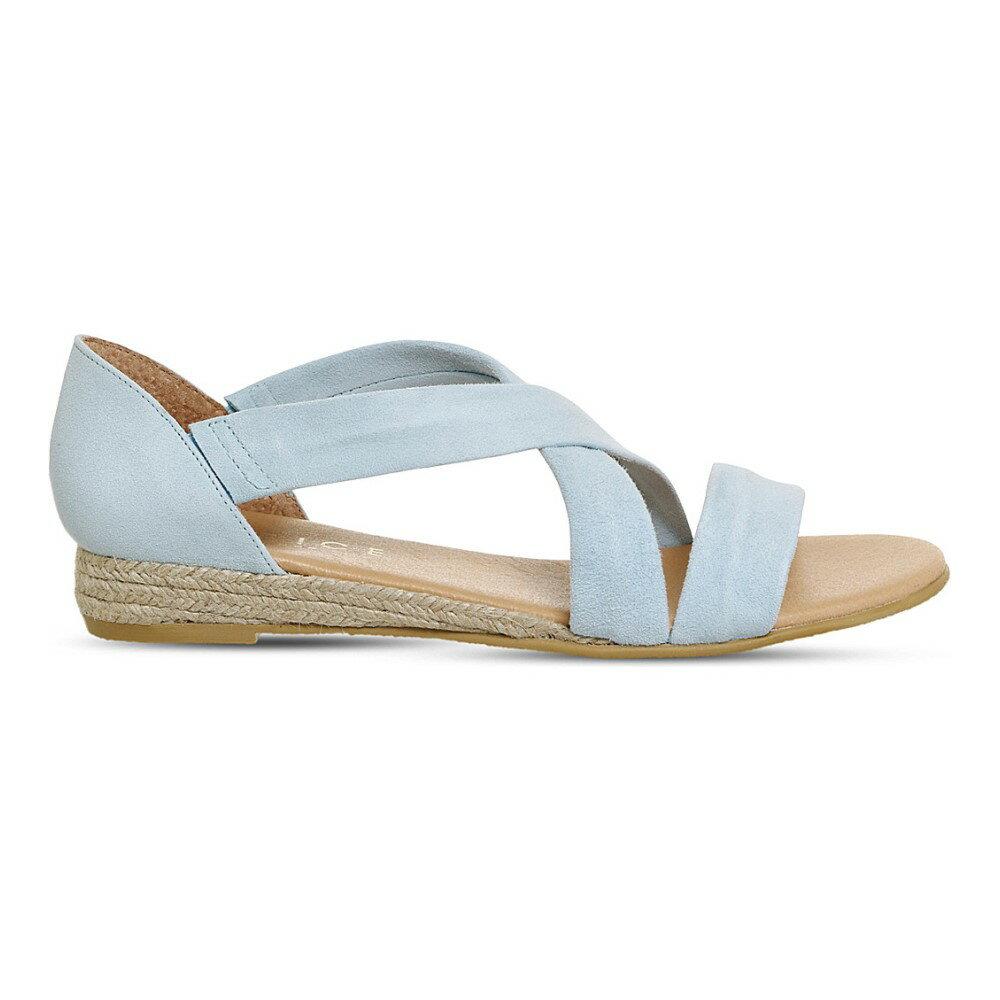 オフィス office レディース シューズ・靴 サンダル【hallie cross-strap suede sandals】Pastel blue suede