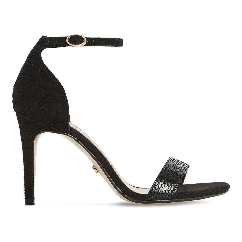 デューン dune レディース シューズ・靴 サンダル【2-part reptile-effect sandals】Black-reptile
