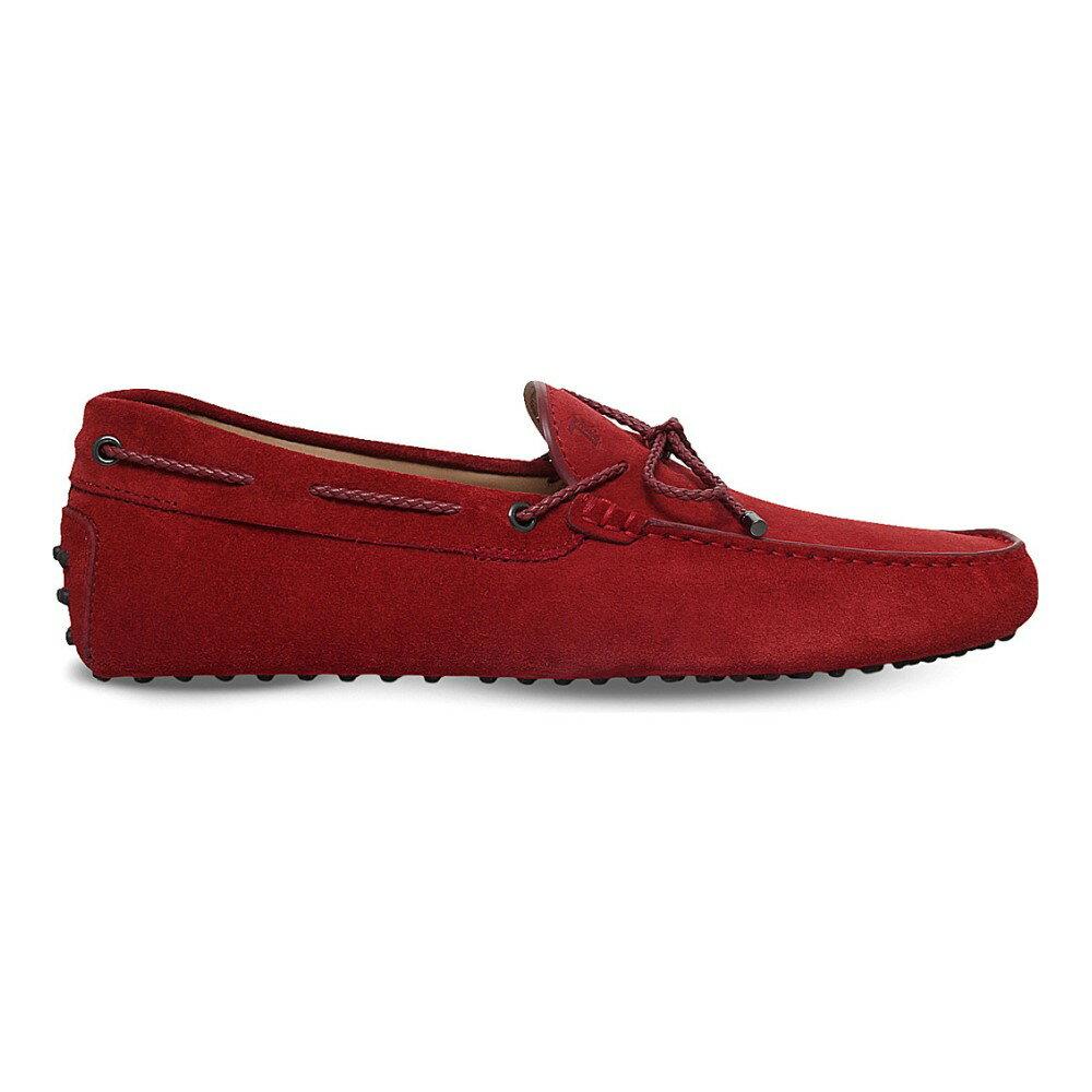 トッズ tods メンズ シューズ・靴 ドライビングシューズ【scooby doo suede driving shoes】Red