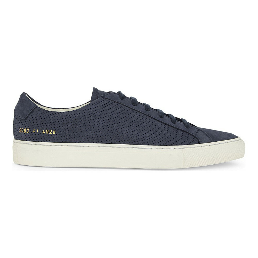 コモン プロジェクト common projects メンズ シューズ・靴 スニーカー【achilles summer edition perforated suede low-top trainers】Navy perforated