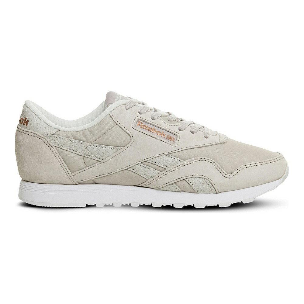 リーボック reebok レディース シューズ・靴 スニーカー【classic nylon suede trainers】Sandstone white