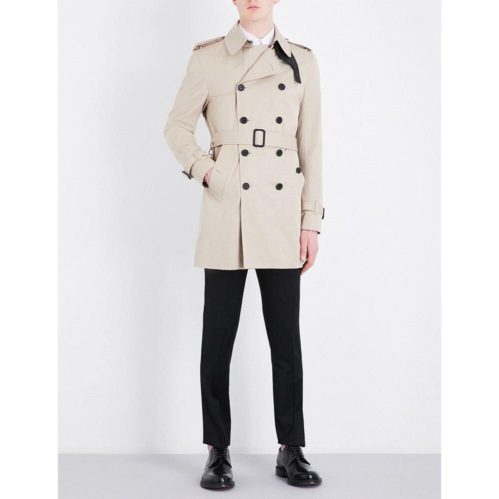 サンドロ sandro メンズ アウター コート�double-breasted cotton trench coat】Beige