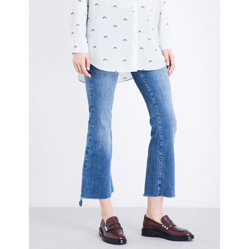 エムアイエイチ mih jeans レディース ボトムス ジーンズ【stepped-hem slim-fit high-rise jeans】Bee wash