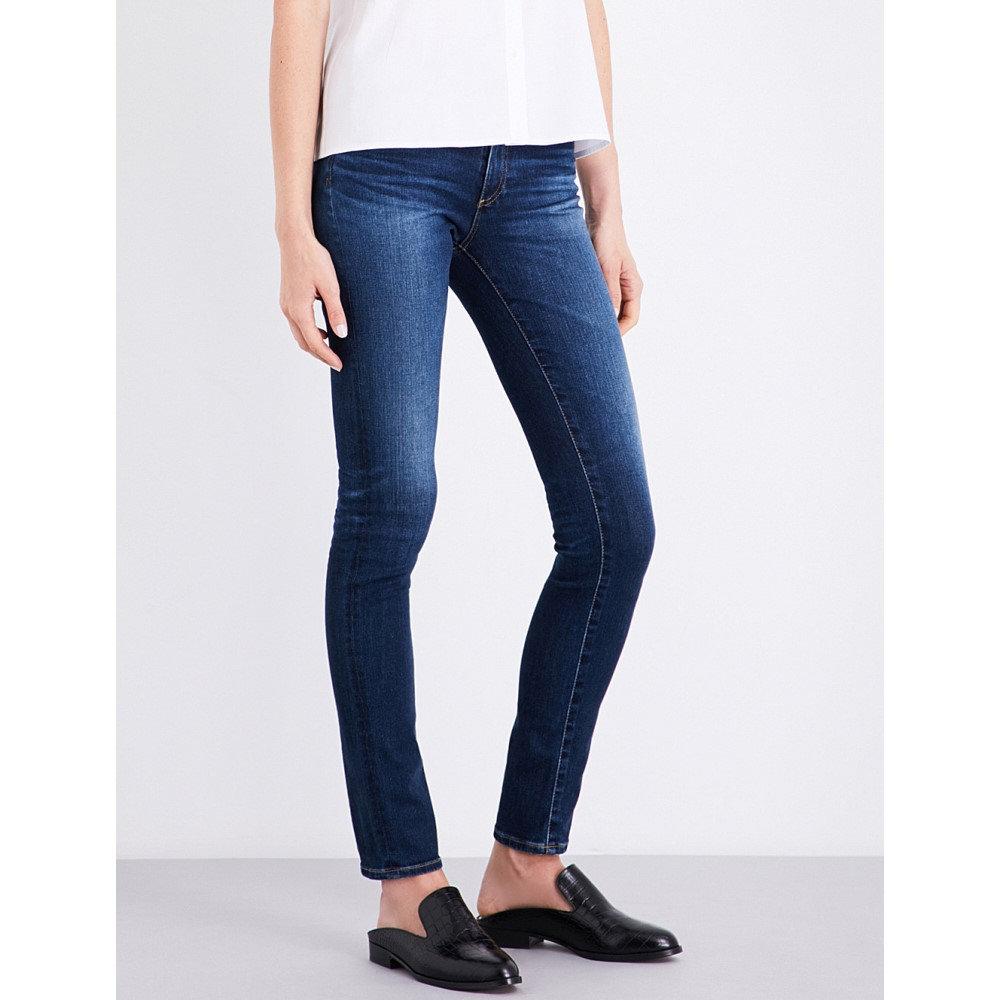 エージー ag レディース ボトムス スキニー【the prima distressed skinny mid-rise jeans】4 years rapids