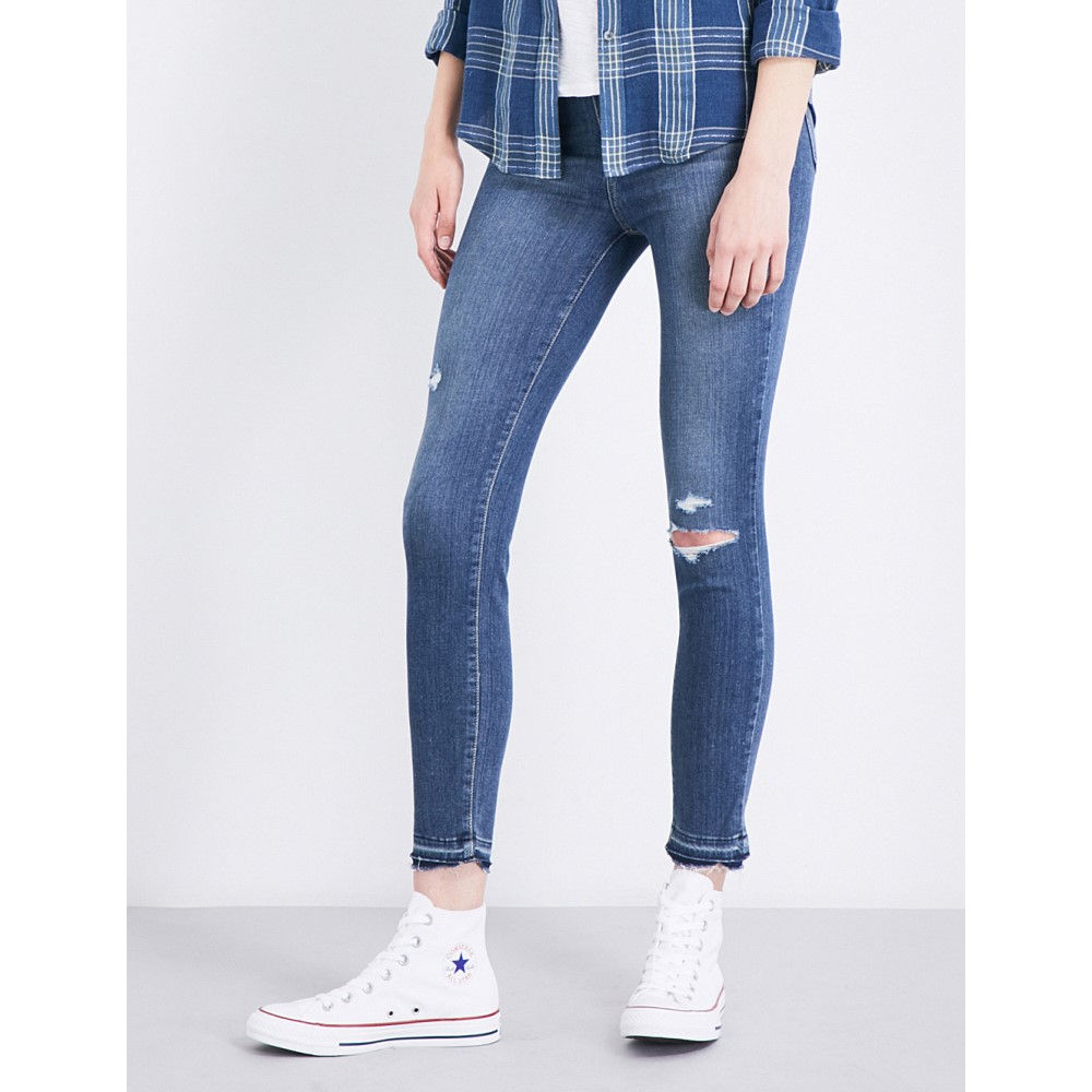 ペイジプレミアムデニム paige denim レディース ボトムス スキニー【hoxton crop released-hem skinny high-rise jeans】Lexi destructed