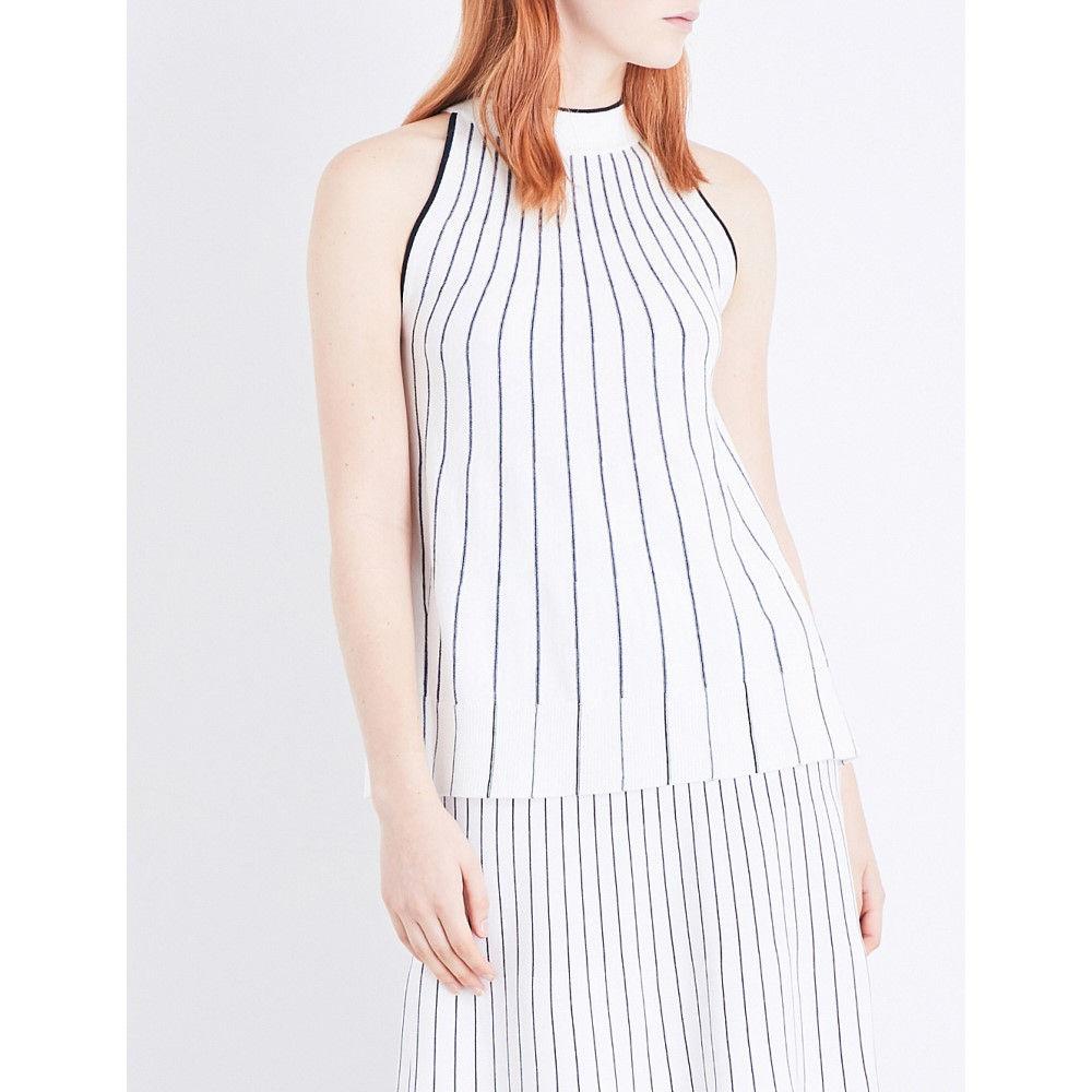 ホイッスルズ whistles レディース トップス タンクトップ【striped cotton-blend knitted vest】Multi-coloured