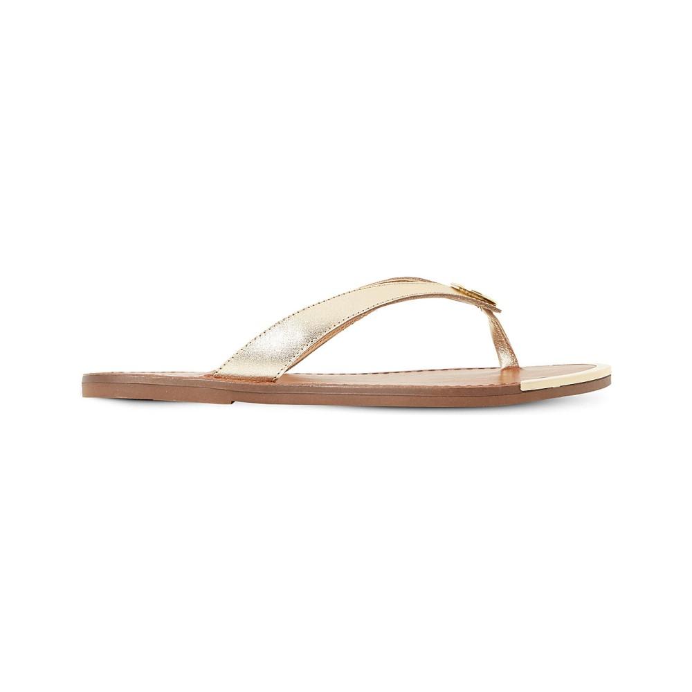 デューン dune レディース シューズ・靴 サンダル【lagos metallic leather sandals】Gold-leather