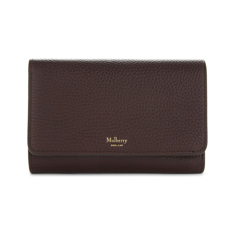 マルベリー mulberry レディース アクセサリー 財布【medium grained leather continental french purse】Oxblood