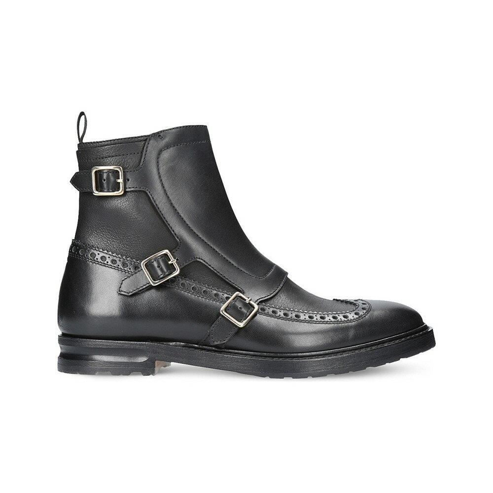 アレキサンダー マックイーン alexander mcqueen メンズ シューズ?靴 ブーツ【triple buckle leather boots】Black