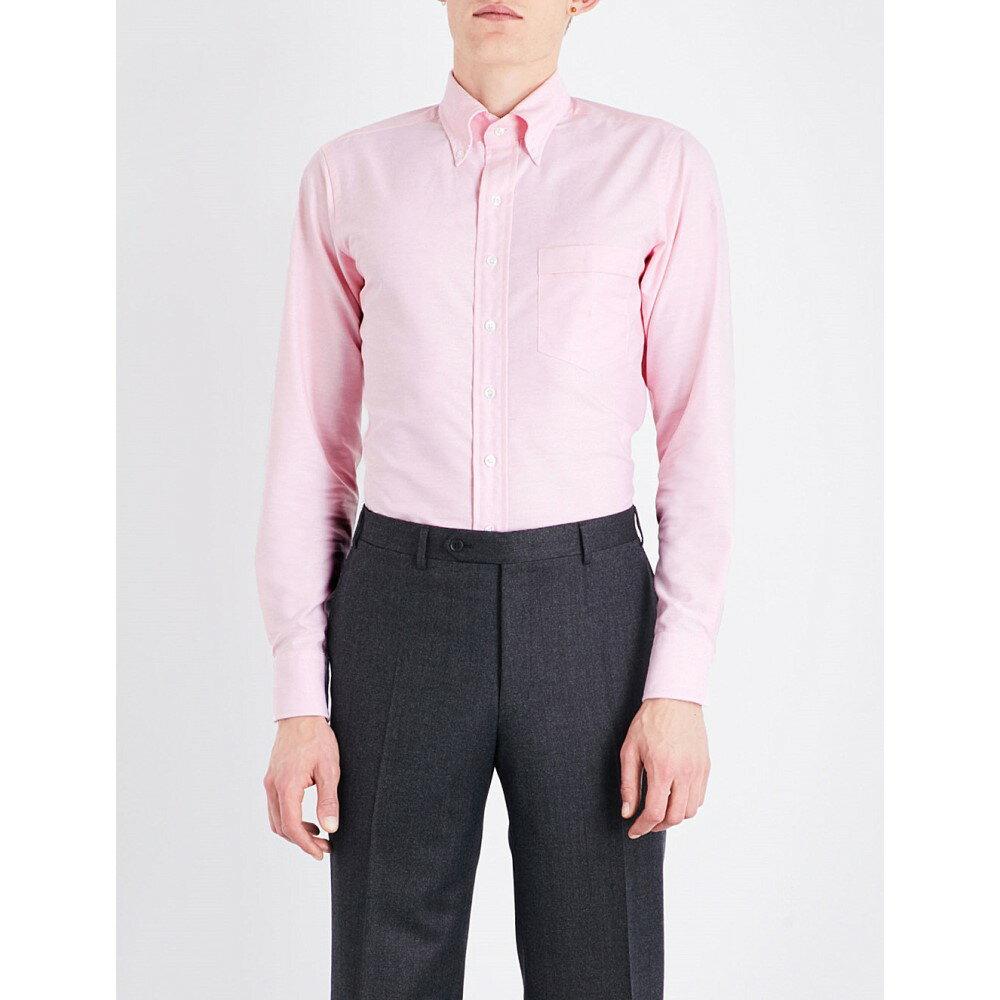 ドレイクス drakes メンズ トップス シャツ【slim-fit button-down oxford shirt】Pink