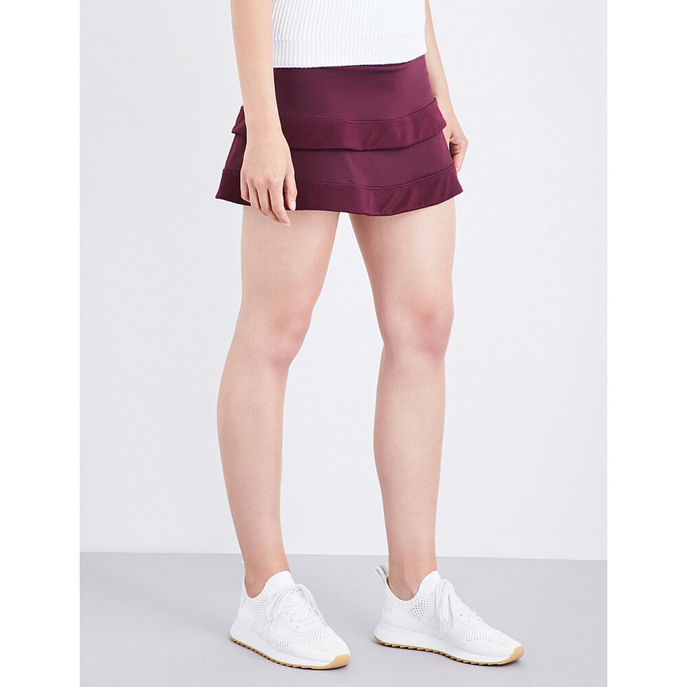 スウェッティベティ sweaty betty レディース スカート ミニスカート【advantage mesh-overlay stretch-jersey tennis skort】Oxblood