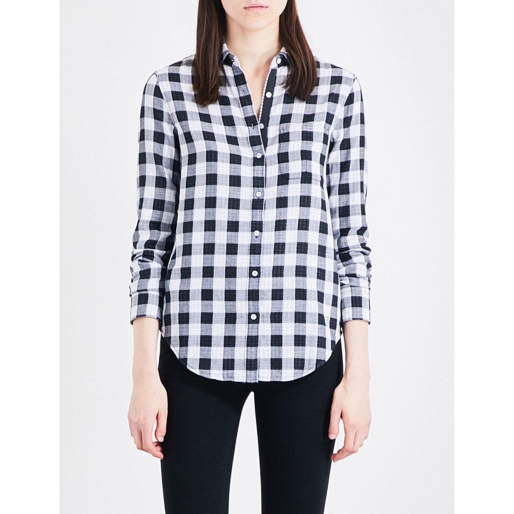 ラグ&ボーン rag & bone レディース トップス ブラウス・シャツ【gingham cotton shirt】Black/white