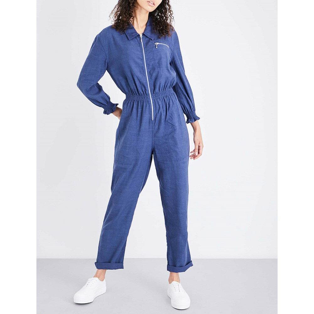 エムアイエイチ mih jeans レディース ワンピース・ドレス オールインワン【monty cotton jumpsuit】Lilac indigo lli