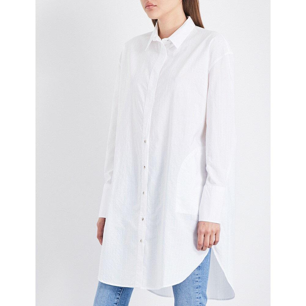 エムアイエイチ mih jeans レディース ワンピース・ドレス ワンピース【tirangle striped cotton shirt dress】White wht