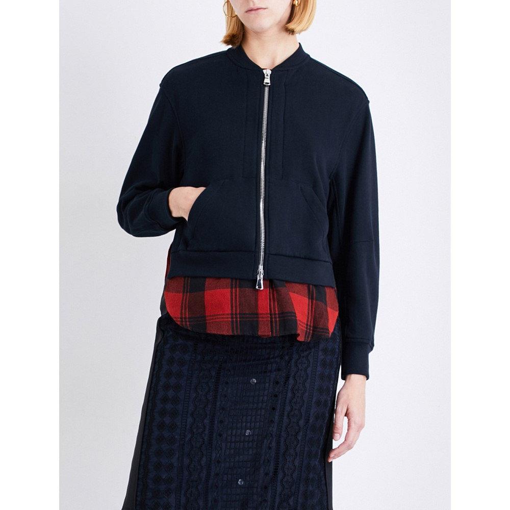 スリーワン フィリップ リム 3.1 phillip lim レディース アウター ブルゾン【split-sides cotton bomber jacket】Midnight
