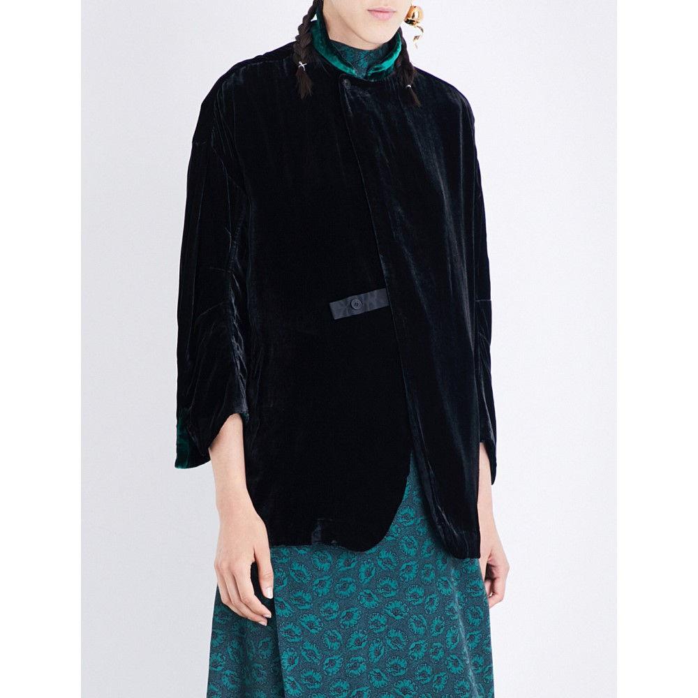 トーガ toga レディース アウター ジャケット【long-sleeved velvet jacket】Black