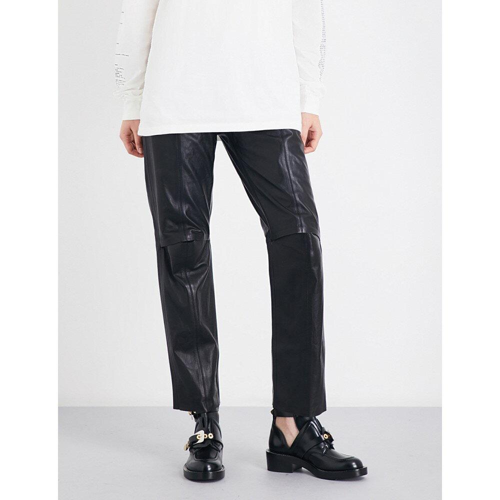 ヤンリ yang li レディース ボトムス・パンツ その他ボトムス・パンツ【straight leather trousers】Black