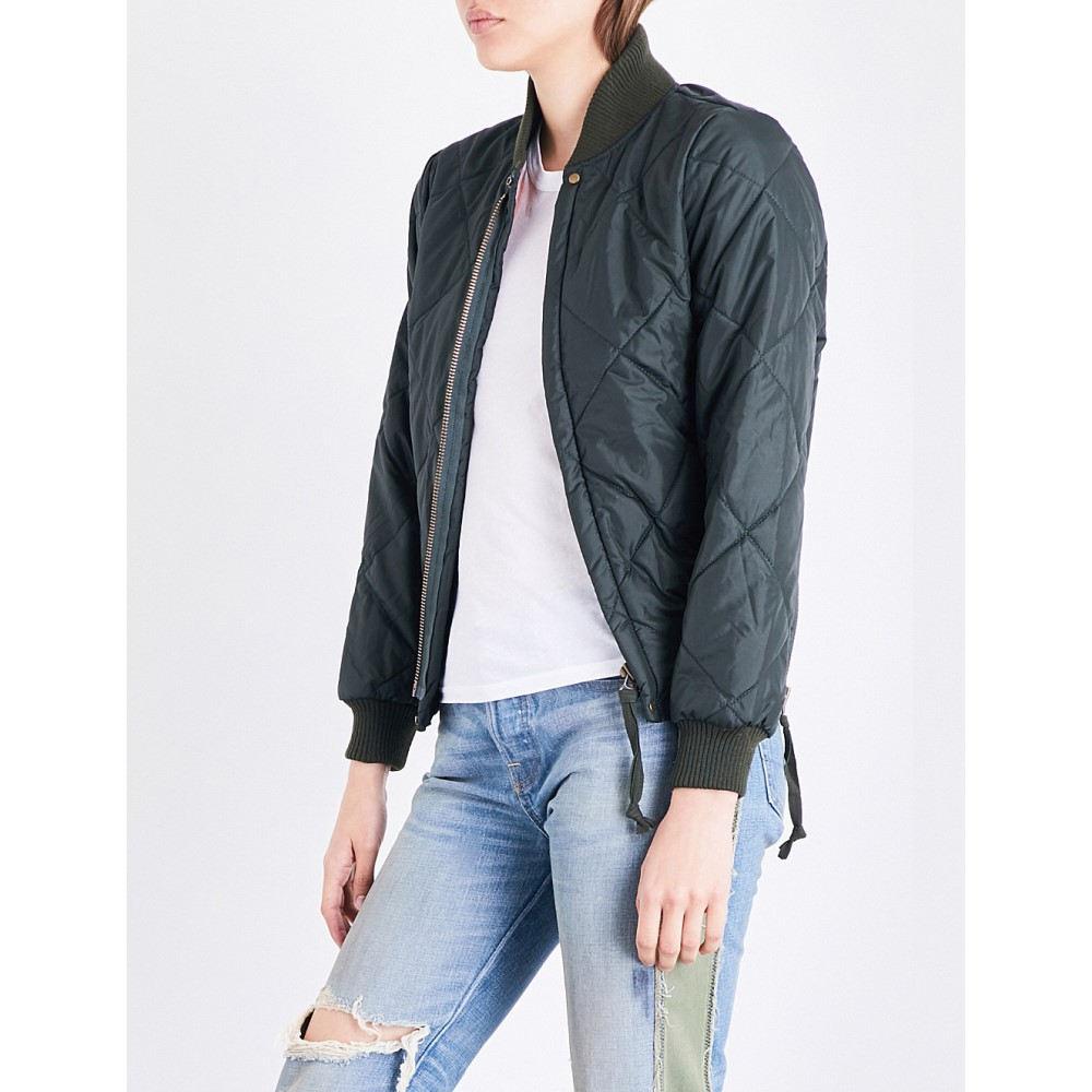 エヌエスエフ nsf レディース アウター ブルゾン【neil shell bomber jacket】Dark olive