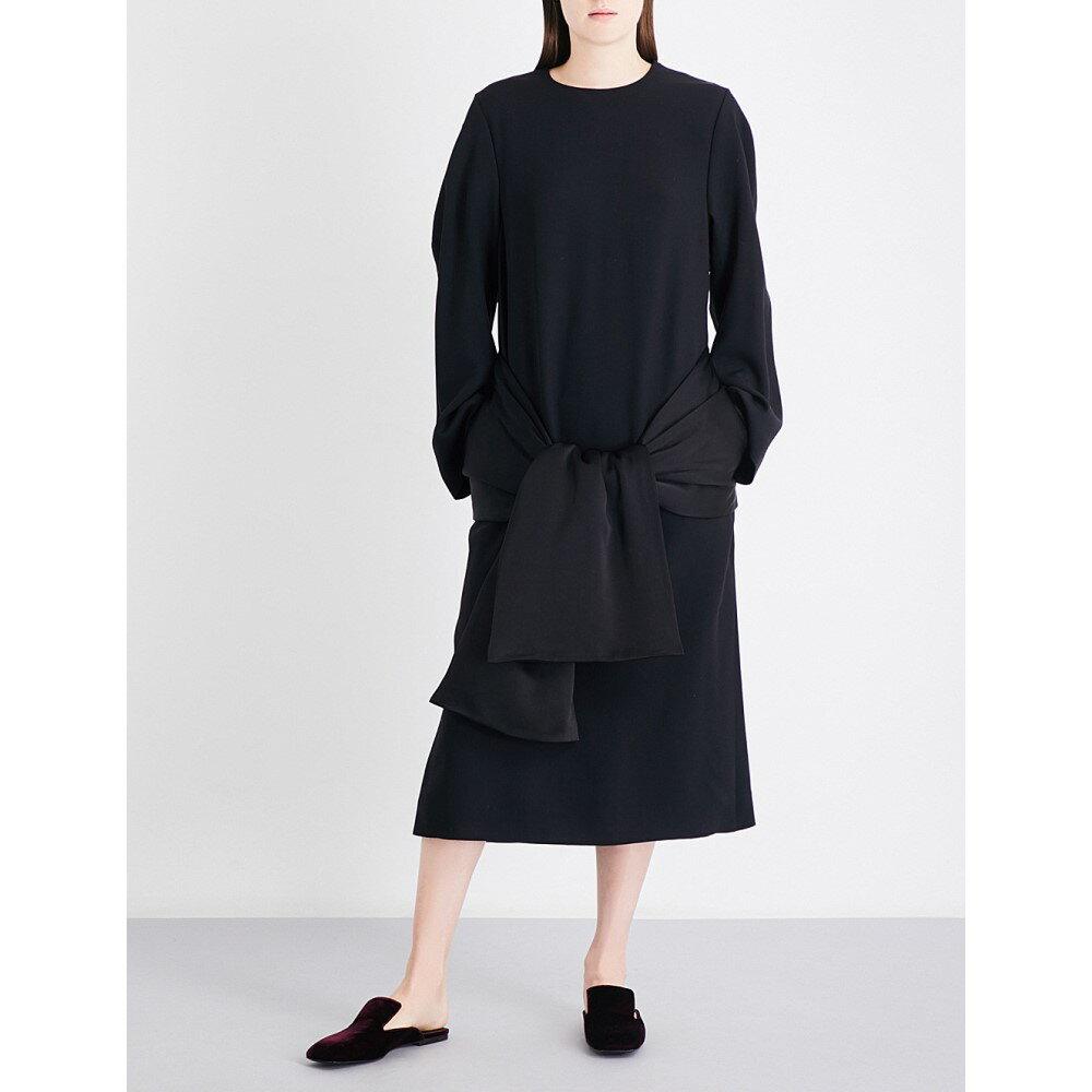 ジル サンダー jil sander レディース ワンピース・ドレス ワンピース【oversized crepe midi dress】Black