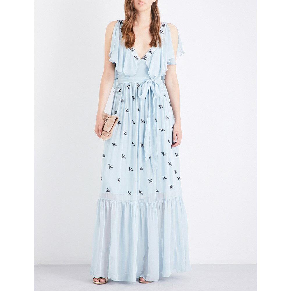 テンパリー ロンドン temperley london レディース ワンピース・ドレス ワンピース【starling sleeveless chiffon gown】Frost