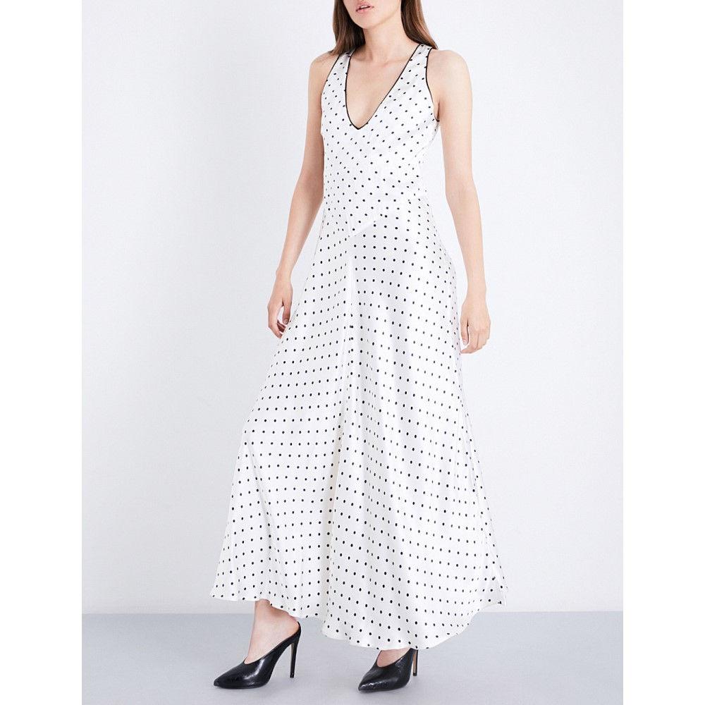 ガニー ganni レディース ワンピース・ドレス ワンピース【leclair polka-dot patterned satin dress】Vanilla ice