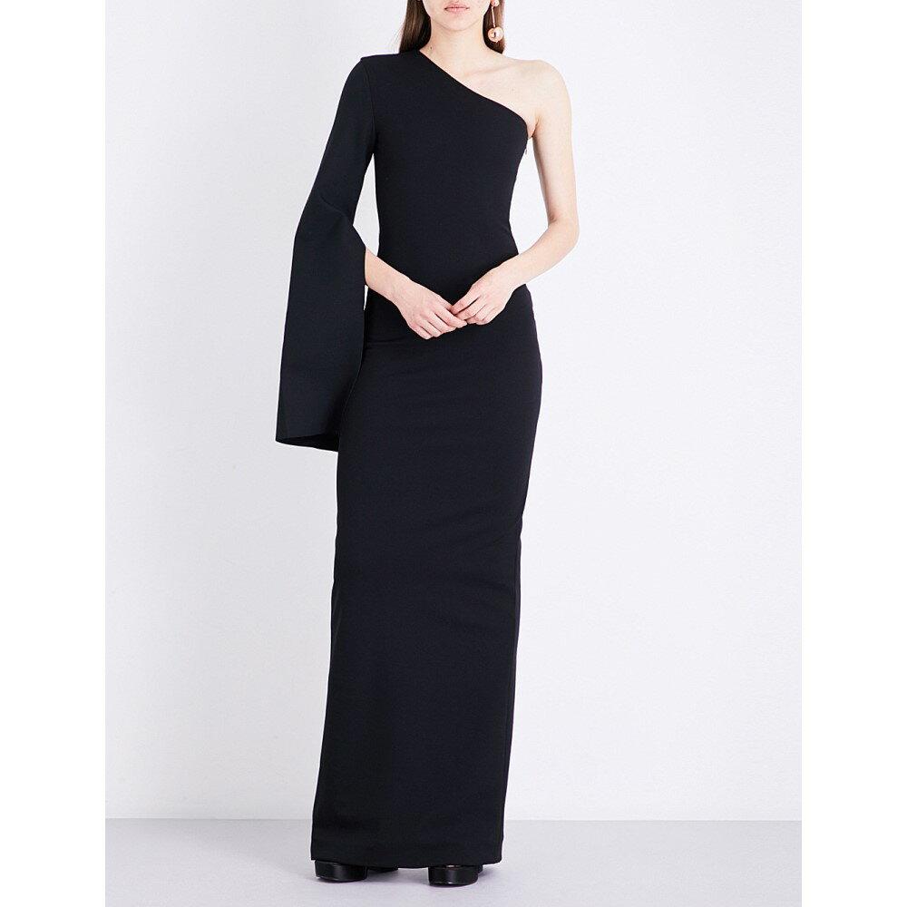 ソレス ロンドン solace london レディース ワンピース・ドレス ワンピース【yasbel stretch-crepe gown】Black