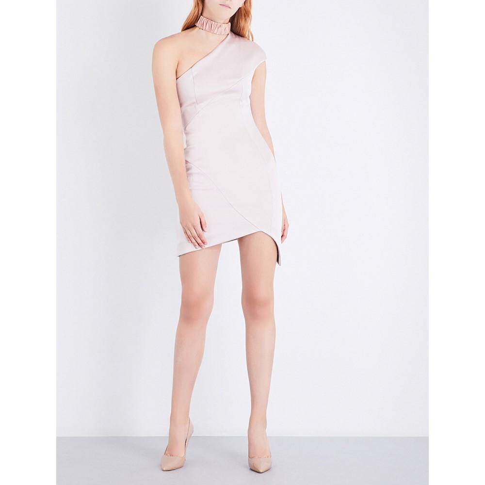 ミシャコレクション misha collection レディース ワンピース・ドレス ワンピース【hana asymmetric satin-crepe dress】Blush