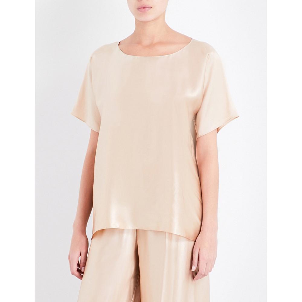 ローザモサリオ rosamosario レディース インナー・下着 パジャマ・トップのみ【loose-fit silk t-shirt】Gold