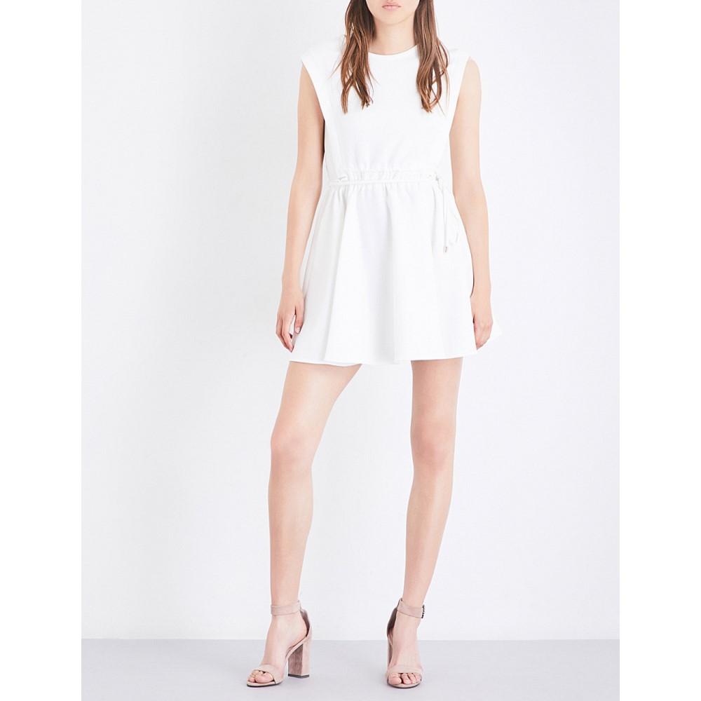 マージュ maje レディース ワンピース・ドレス ワンピース【rite stretch-crepe mini dress】White