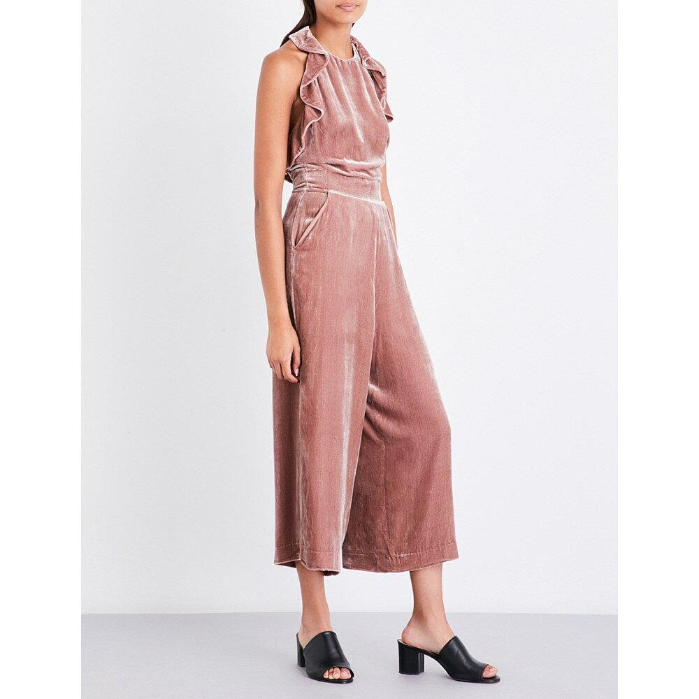 ホイッスルズ whistles レディース ワンピース・ドレス オールインワン【lola ruffled velvet jumpsuit】Pink